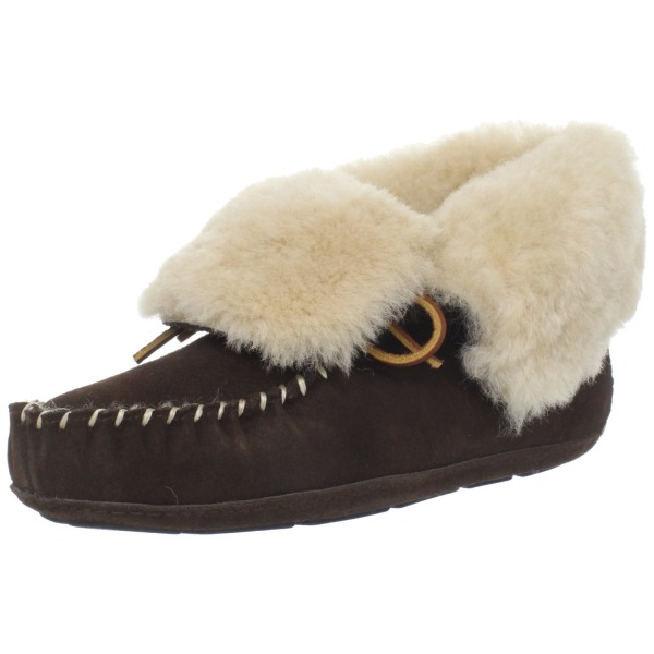 ACORN Women's Sheepskin Moxie Bootie Slipper,Pumpkin,8 M US