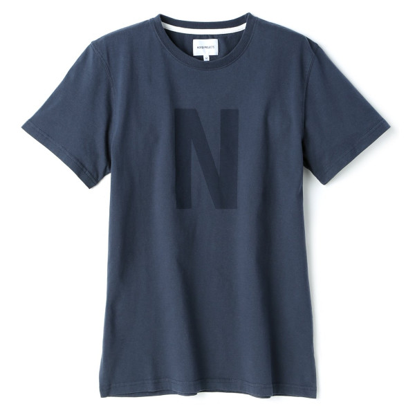 Norse Projects Men's Niels Basic Logo T-Shirt, Navy
