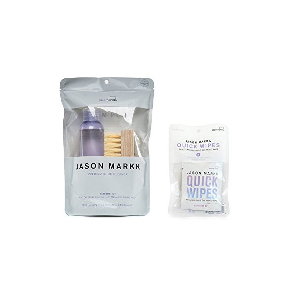 Jason Markk Essential Kit PLUS Set of 3 Pack Quick Wipes