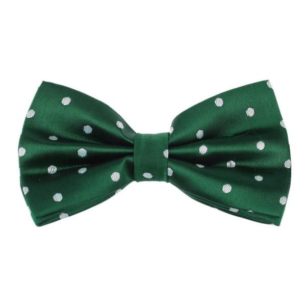 Dark Green Polka Dots Pre-tied Bow Tie By Dan Smith