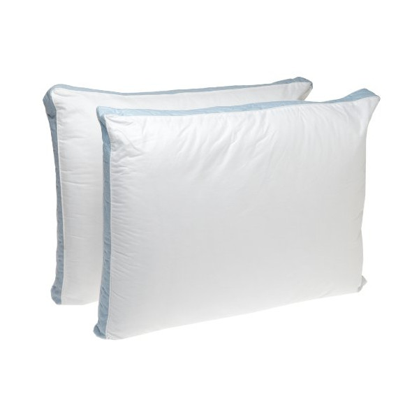 Perfect Fit Firm Density Standard Size 233 Thread-Count Quilted Sidewall Pillow 2 Pack, White