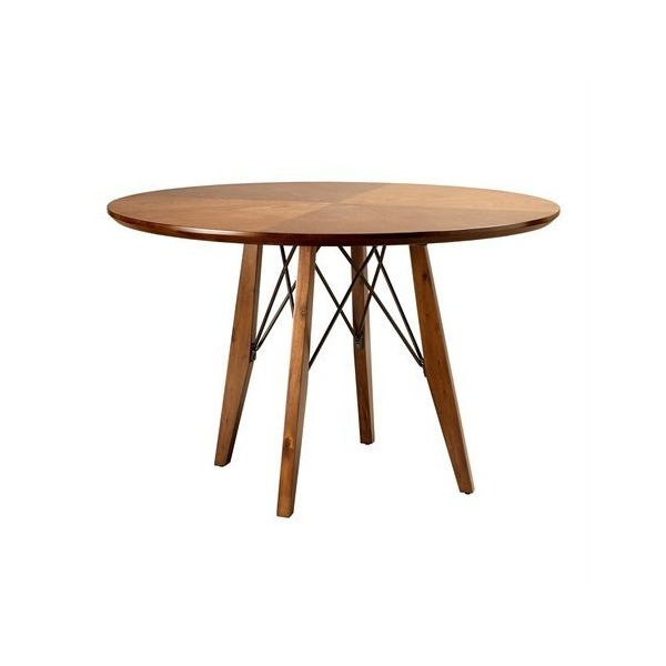 INKIVY Clark Round DiningPub Table Pecan See below