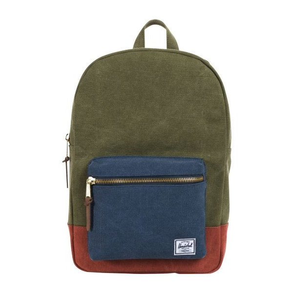 Herschel Supply Co. Settlement Canvas (Washed Army / Navy / Rust)