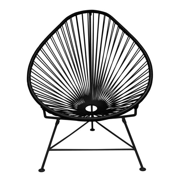 Innit Acapulco Chair, Black Steel Frame, Black