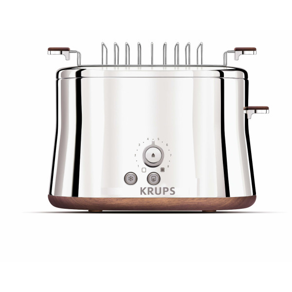 KRUPS Silver Art Collection 2-Slice Toaster with Bun Warmer