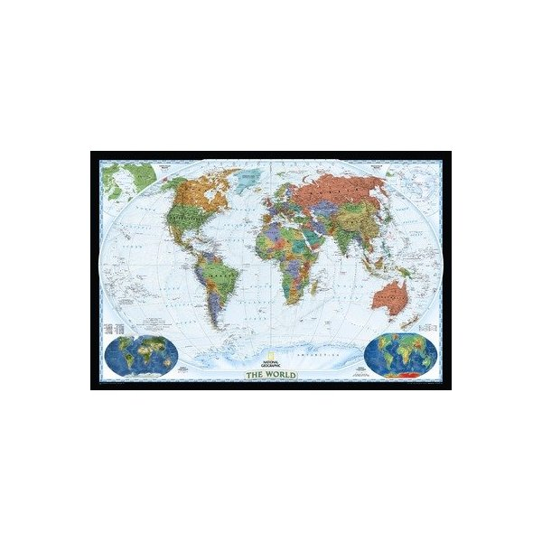 "World Decorator Map, Type: Basic Size Paper Tubed (30""H x 46""W)"