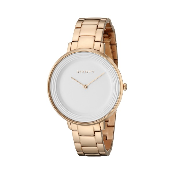 Skagen Analog Display Analog Quartz Watch, Rose Gold
