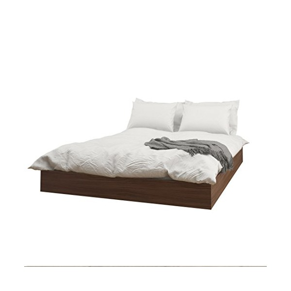 Nexera 346031 Alibi Queen Size Platform Bed, Walnut