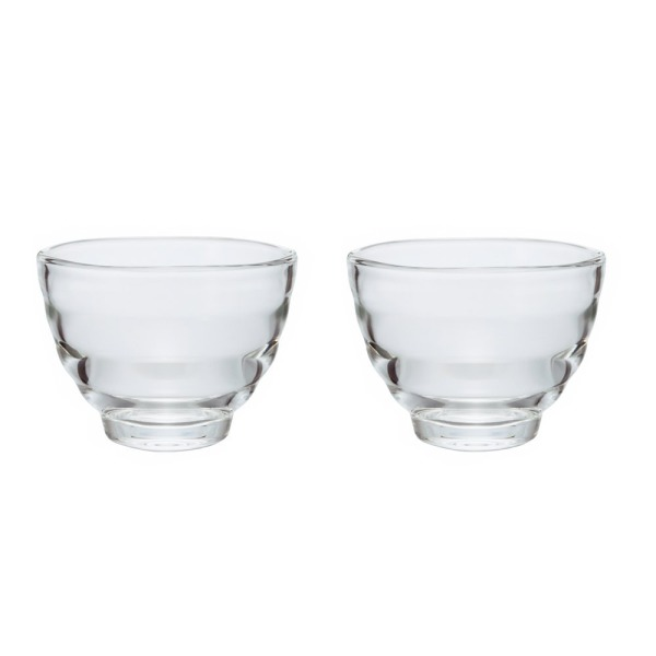 Hario Heatproof Yunomi Pair Tea Cup, Clear