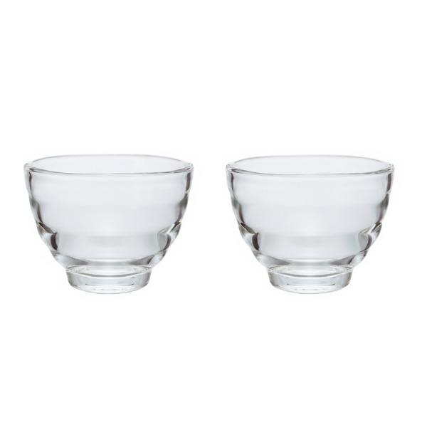 Hario Heatproof Yunomi Pair Tea Cup, Clear