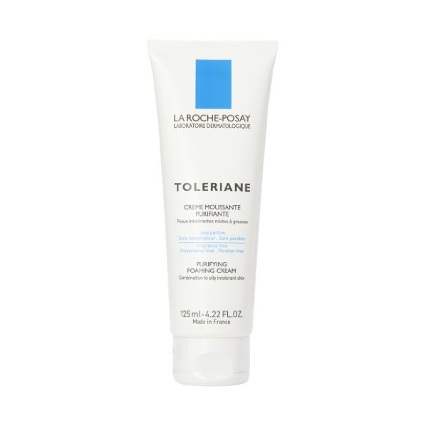 La Roche-Posay Toleriane Purifying Foaming Cream Cleanser for Combination to Oily Intolerant Skin (125ml) 4.22 Fluid Ounces