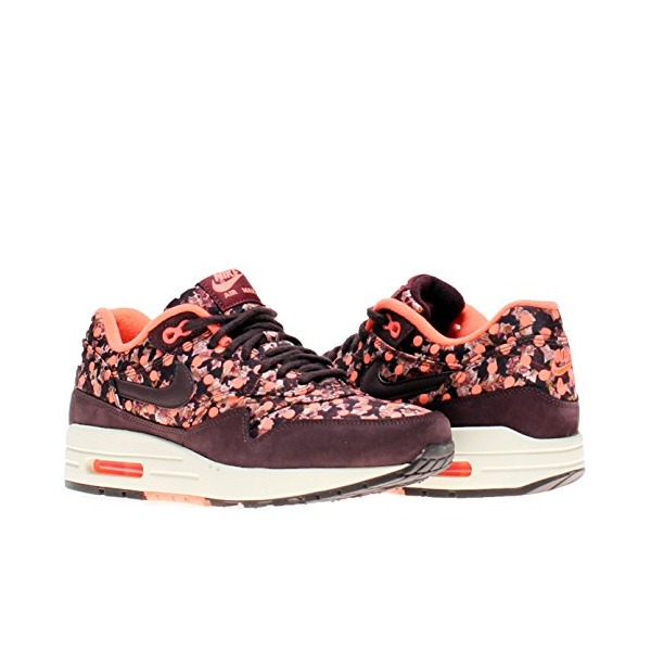 Nike Air Max 1 LIB QS Womens Running Shoes 540855-600 Deep Burgundy Bright Mango 8 M US