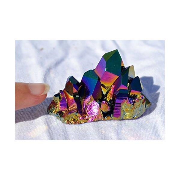 Rainbow AURAFLAME Titanium Seed Quartz Crystal Healing Cluster Large e2388x