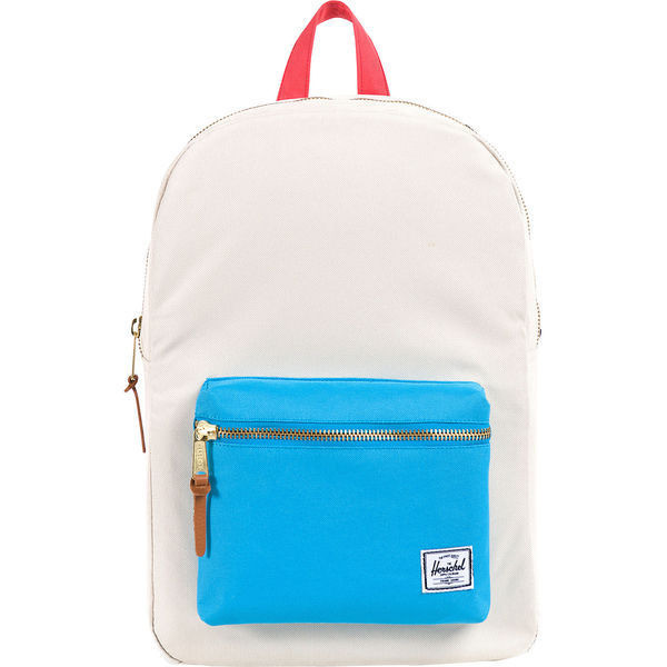 Herschel Supply Co. Settlement Mid-Volume, Bone/Cyan/Salmon