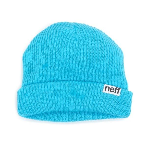 neff Men's Fold Beanie, Cyan, One Size