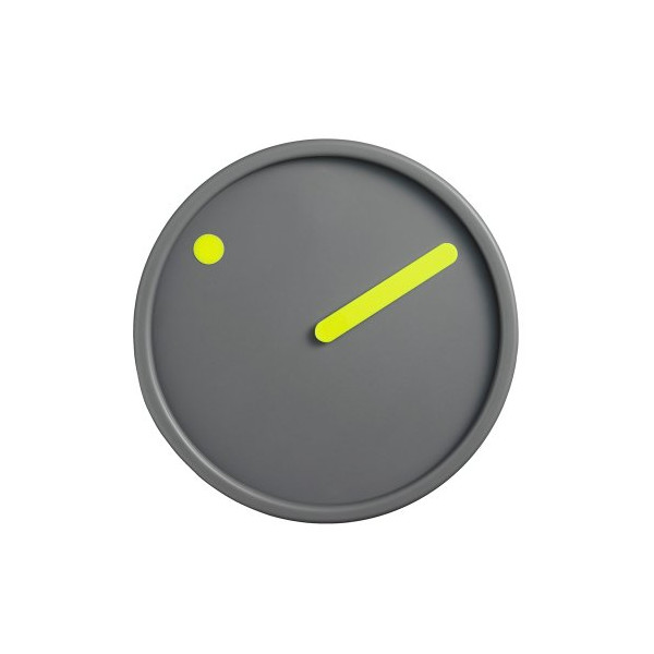 Rosendahl Picto Wall Clock Yellow on Dark Grey 6.25""