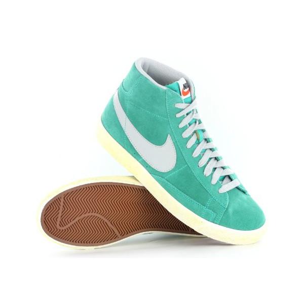 Nike Blazer Mid Premium Vintage Green Suede Mens Trainers