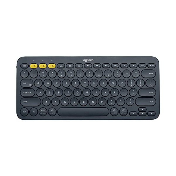 Logitech K380 Multi-Device Bluetooth Keyboard, Dark Grey (920-007558)