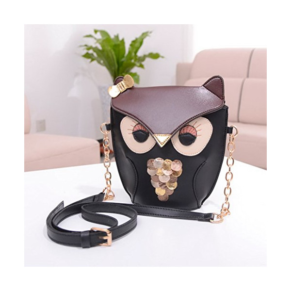 Color Scissor Womens Vintage Owl Crossbody Shoulder Bag Satchel Handbag
