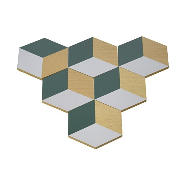 Areaware Table Tiles Green and Gray, Green/Gray
