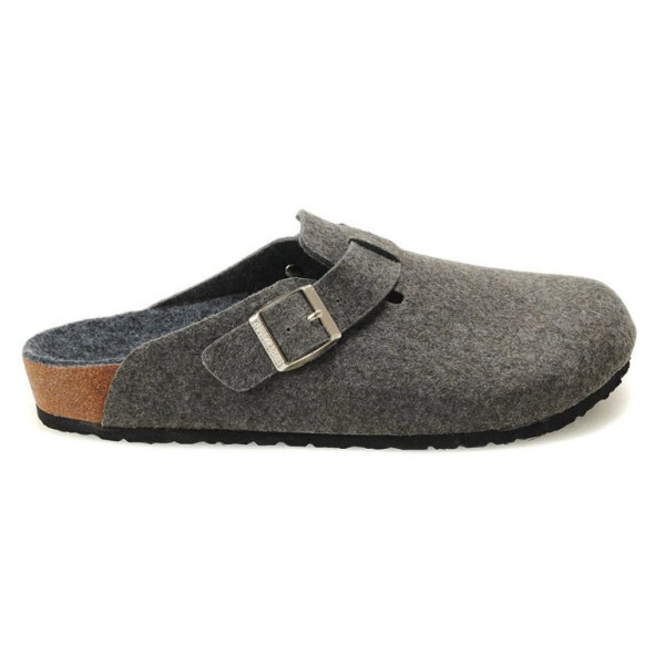 Birkenstock Men's Boston Clogs, Grey Felt