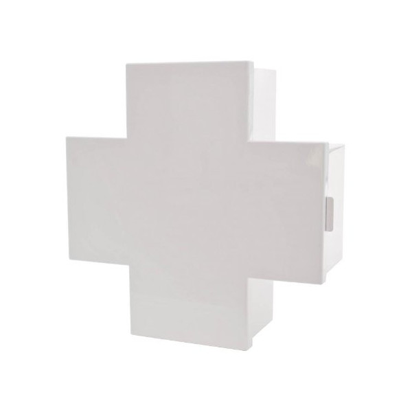 Cross Medicine Cabinet - White