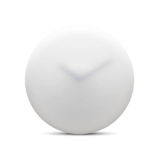 wall clock hazy35 white black hands