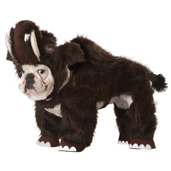Animal Planet Wooly Mammoth Dog Costume, Small
