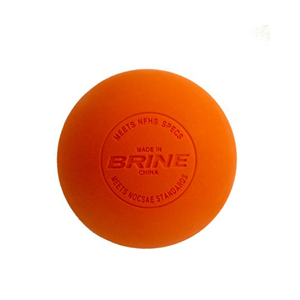 #1 Best Selling- Brine NOCSAE / NCAA Lacrosse Massage Balls- 2 Pack (Orange)