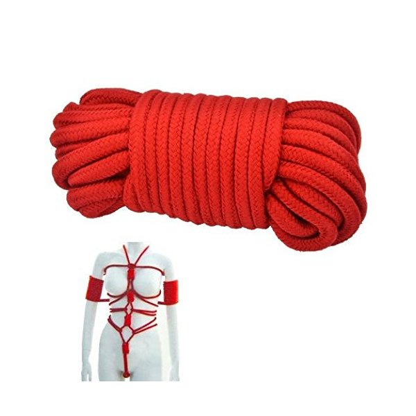 LifeJoy ULTRA DNA TM 32-foot 10m Long Japanese Bondage Rope Flirting Toys Red