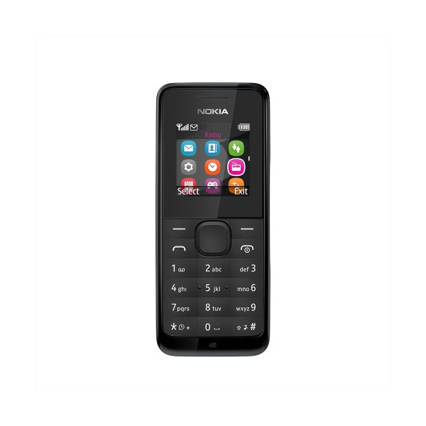 Nokia 105 RM-1135 Dual-Band (850/1900) Factory Unlocked Mobile Phone Black no warranty
