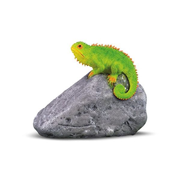 Georgetown Home & Garden Miniature Chameleon on Rock Garden Decor