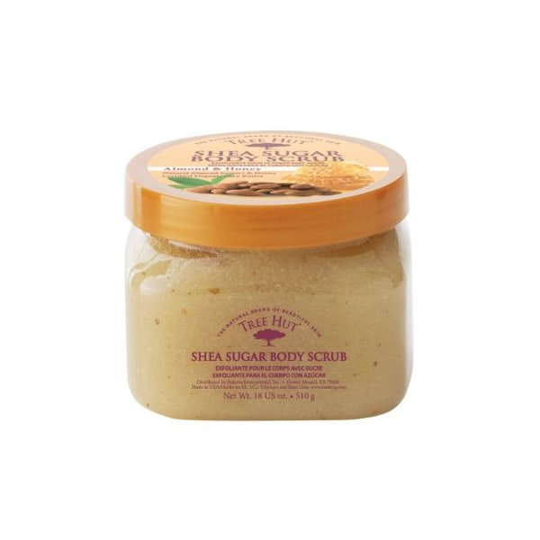 Tree Hut Shea Sugar Body Scrub, Almond & Honey, 18-Ounce Jars (Pack of 3)