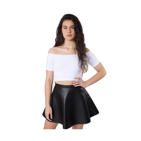 American Apparel Leather Circle Skirt - Black / M