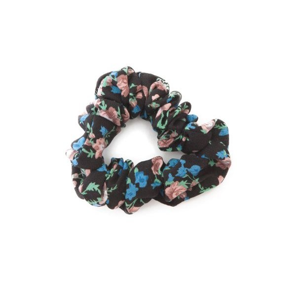 American Apparel Rayon Scrunchie -Berry Flowers