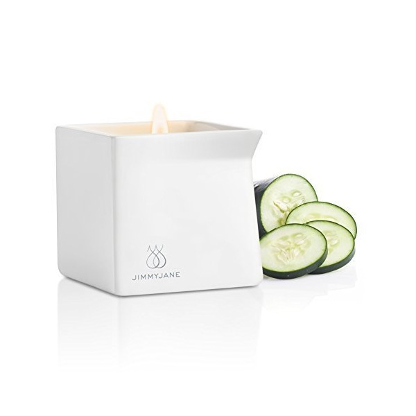 Jimmyjane Afterglow Natural Massage Oil Candle, Cucumber