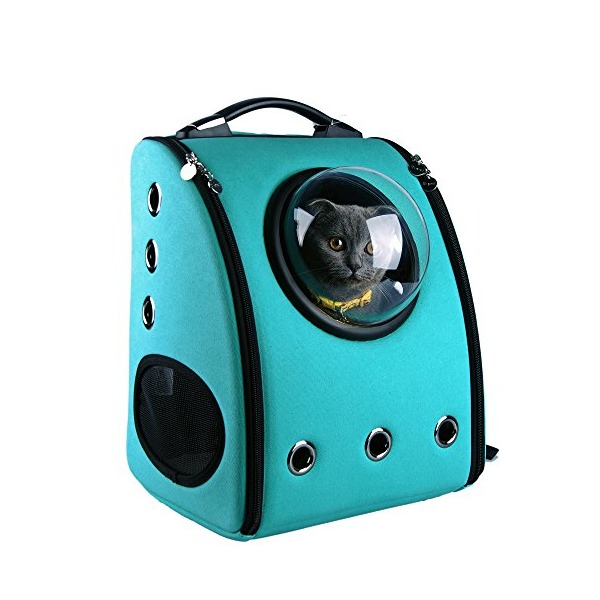U-pet Innovative Patent Bubble Pet Carriers, Turquoise