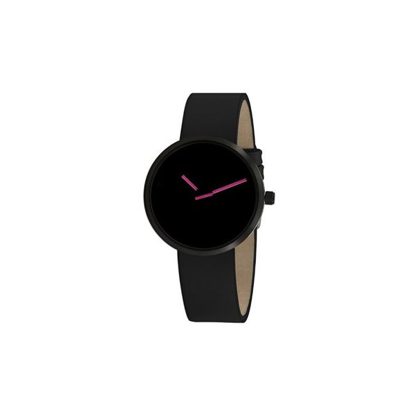 Projects 7290PB Unisex Sometimes Pink with Black Leather Watch