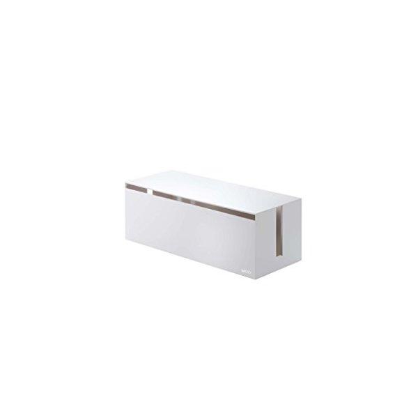 YAMAZAKI home Web Cable Box, White