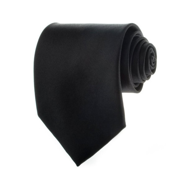 Solid Black 3.875 Inch Men's Necktie