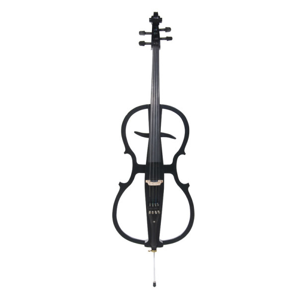 Cecilio Black Electric Cello with Ebony Fittings