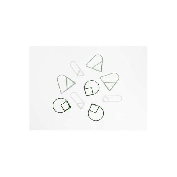 Paper Clips [Set of 3] Color: Green