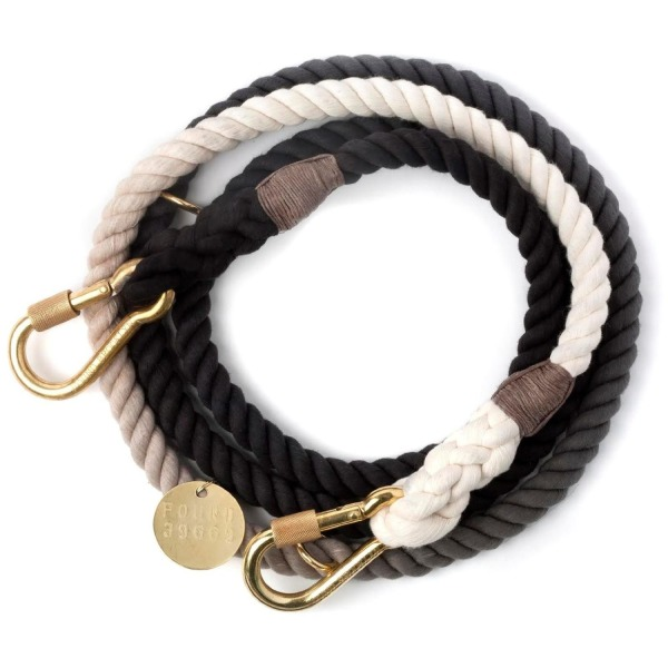 Found My Animal Adjustable Brass Leash - Black Fade - Small