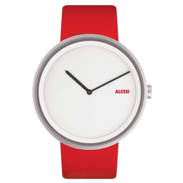 Alessi Out Time Stainless Steel Watch Designed by Andrea Branzi