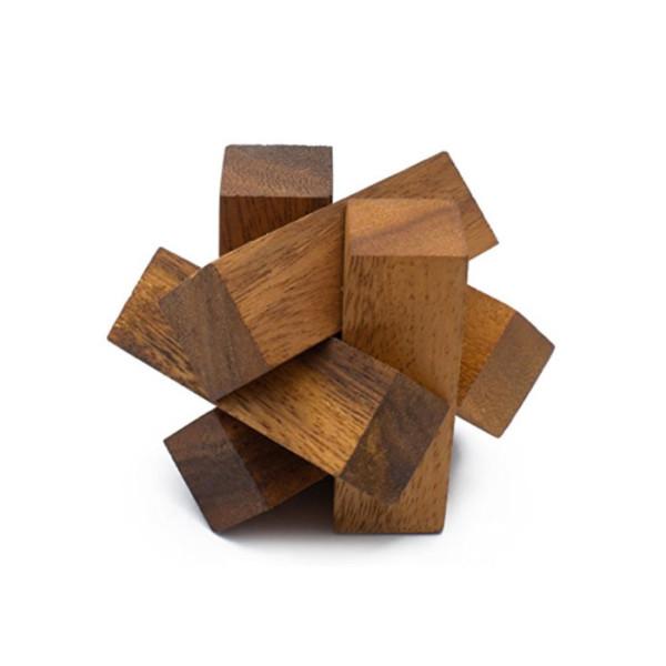 Mini Lumberjack: Handmade & Organic Wooden Burr Puzzle