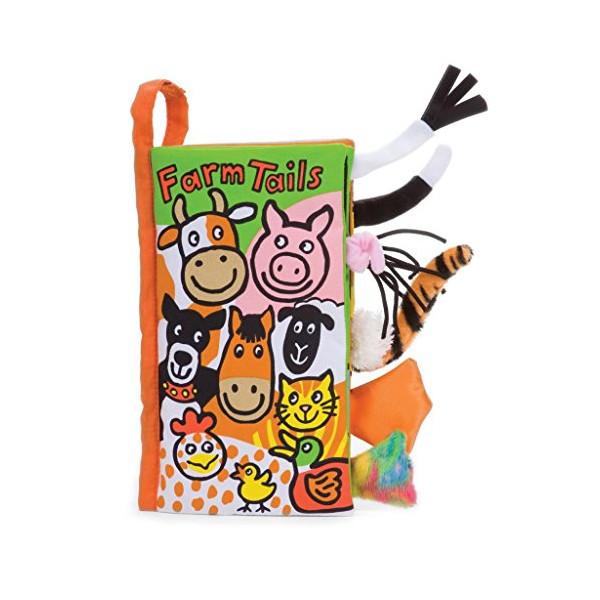 Jellycat Soft Books, Farm Tails