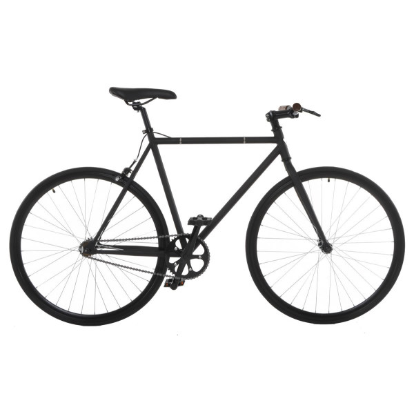 Vilano Fixed Gear Bike Fixie Single Speed Road Bike, Matte Black, 50cm/Small