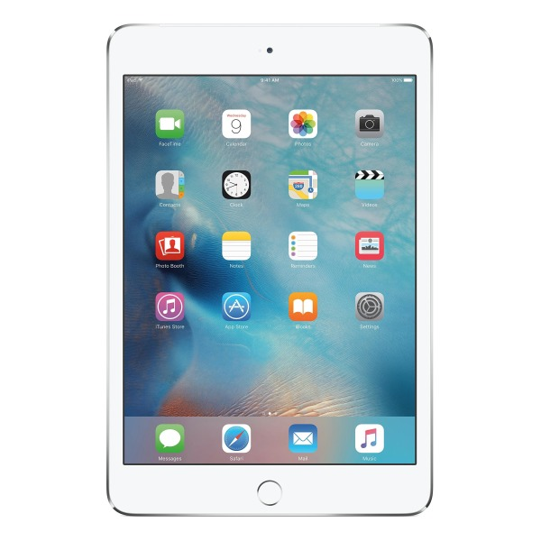 Apple iPad mini 4, 16GB, Wi-Fi + Cellular, Silver