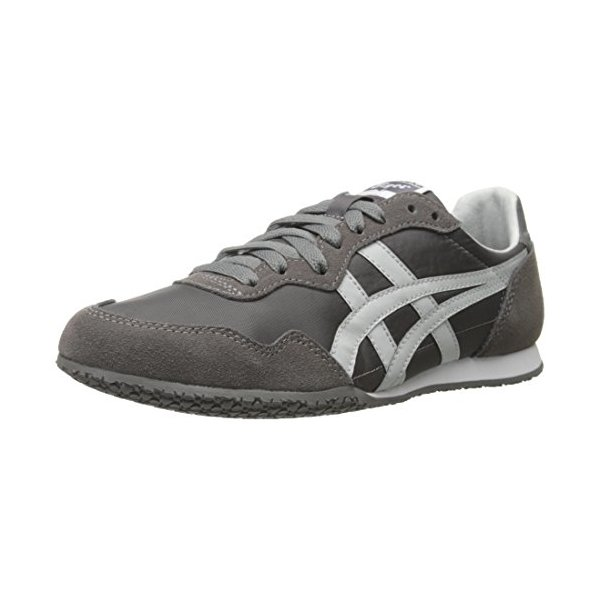 Onitsuka Tiger Serrano Running Shoe, Grey/Soft Grey, 5.5 M US