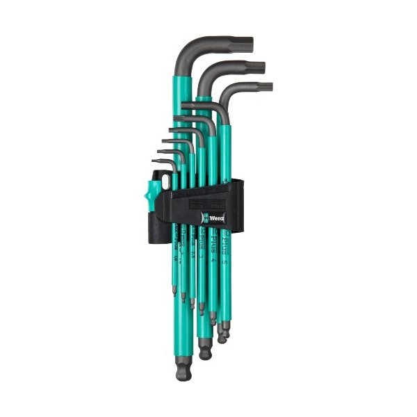 Wera 950 SPKL/9 SM N Hex Key Set with Two-Component Storage Clip, 9-Pieces